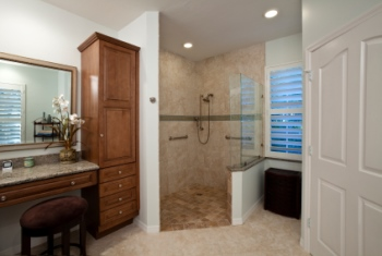 Remodeled bathroom in Scottdale GA by Valen Properties, LLC