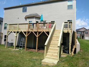 Deck building by Valen Properties, LLC