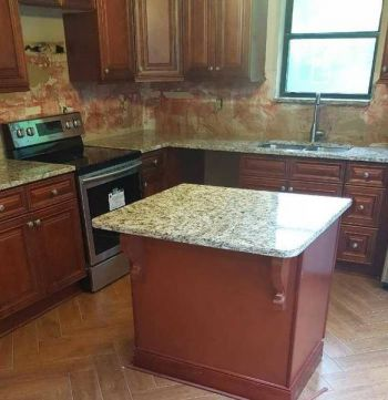 Kitchen remodeled by Valen Properties, LLC